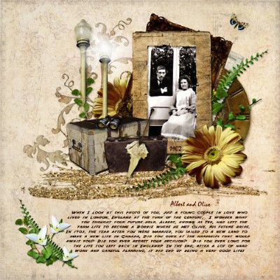 digital scrapbooking layout by Janet