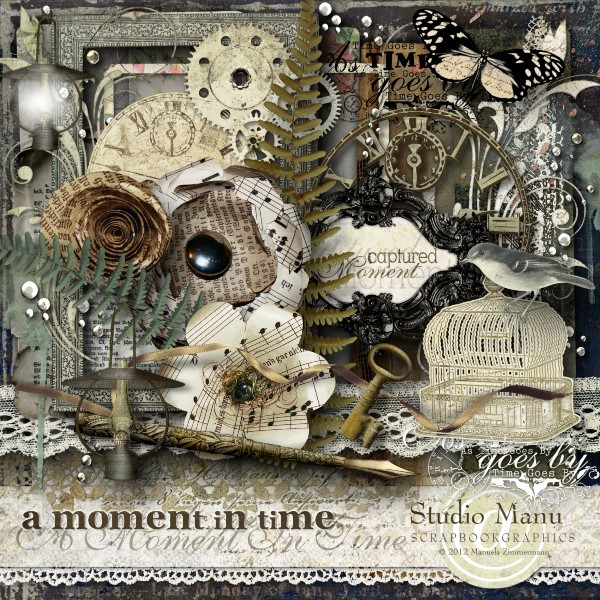 A Moment In Time - Scrapbook Kit