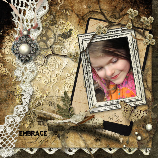 scrapbook layout by janet
