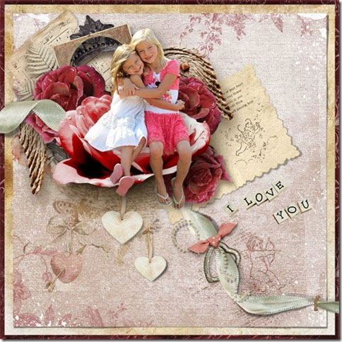 Everlasting Love Scrapbooking Page