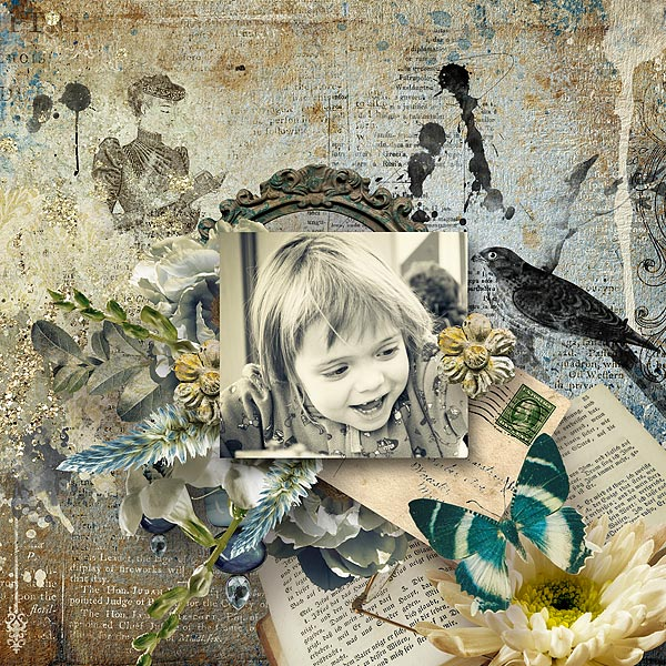 Digital scrapbooking page by Jacqueline