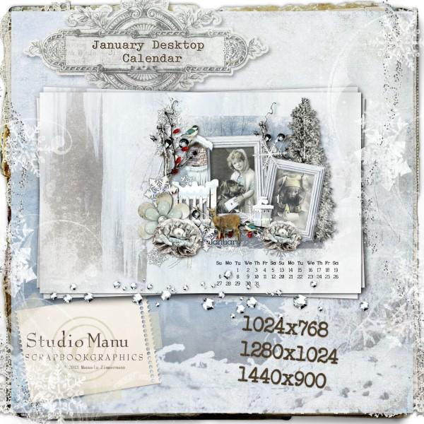January Desktop Calendar