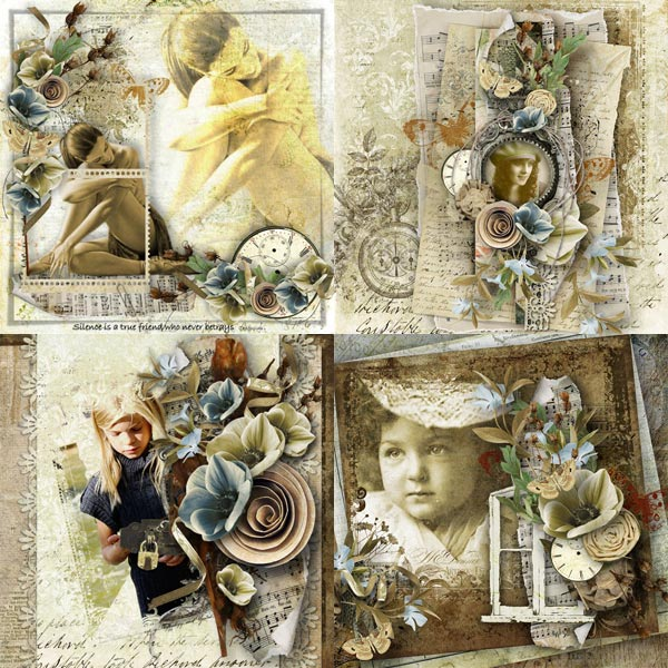 digital scrapbooking inspiration layout silence