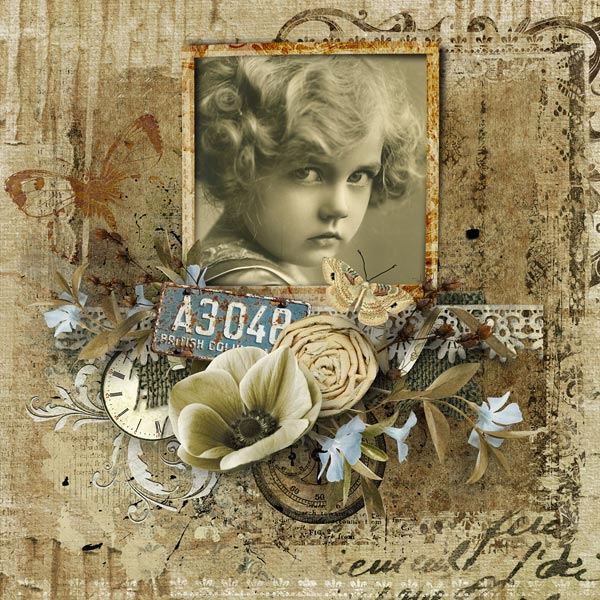digital scrapbooking inspiration layout silence clusters