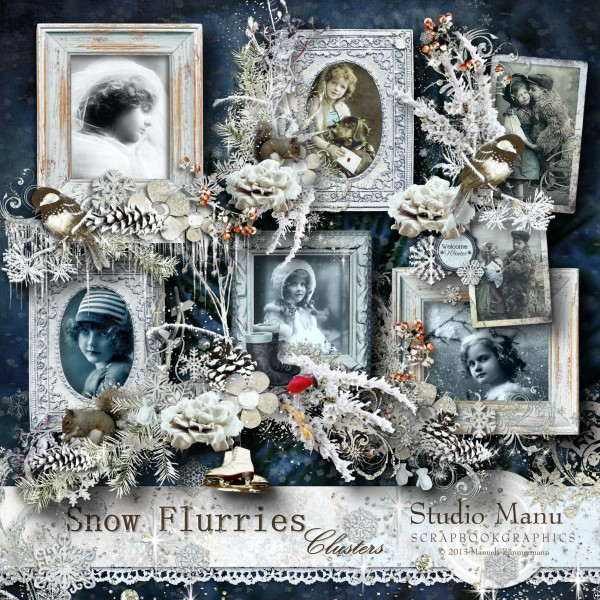 Snow Flurries - Cluster Frames