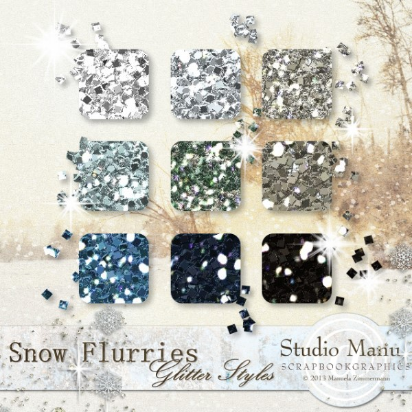 Snow Flurries - Glitter Styles
