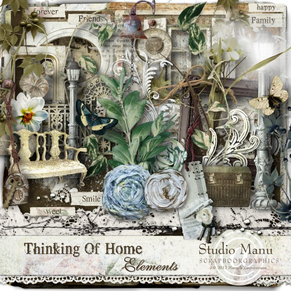 Thinking Of Home - Scrapbook Kit