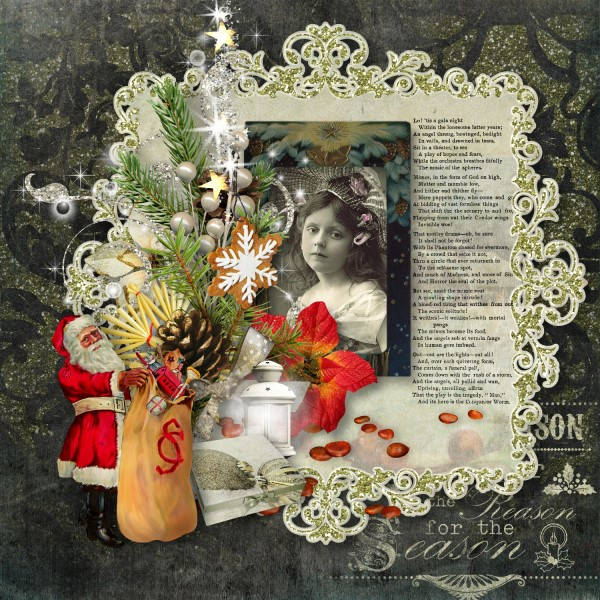 Vintage Christmas 3 - Cluster Sample Layout
