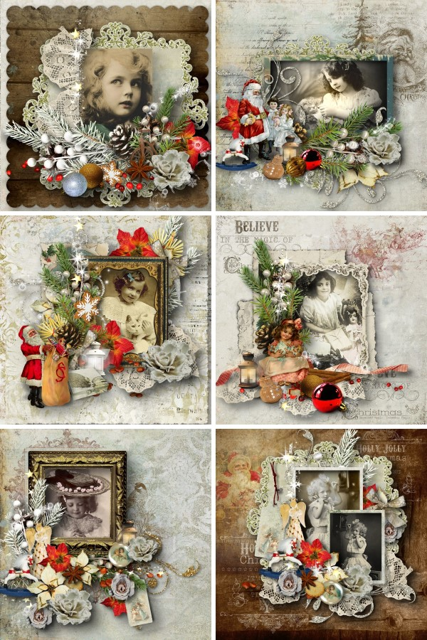 Vintage Christmas 3 - Quick Pages Inspiration
