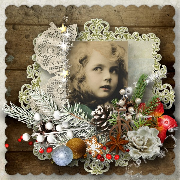 Vintage Christmas 3 - Quick Page Sample Layout