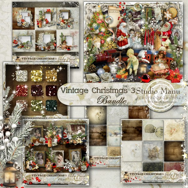 Vintage Christmas 3 - Bundle