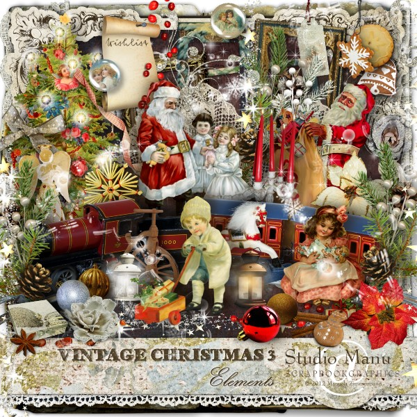 Vintage Christmas 3 - Scrapbook Kit