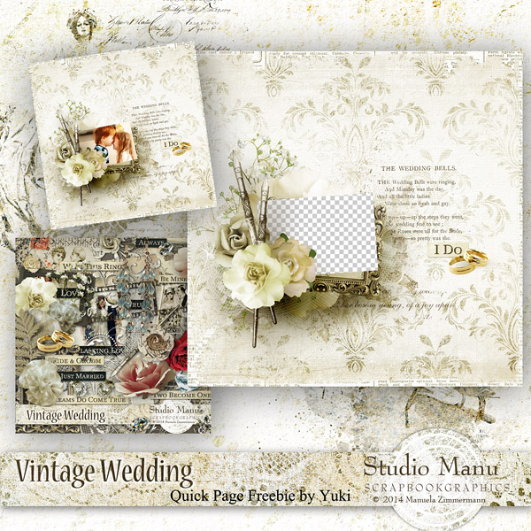 New Collection Studio Manu Vintage Wedding Freebies