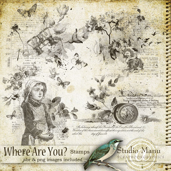 Where Are You ? - Stamps & Brushes