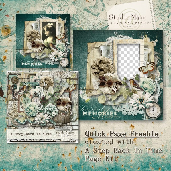 A Step Back In Time Quick Page Freebie