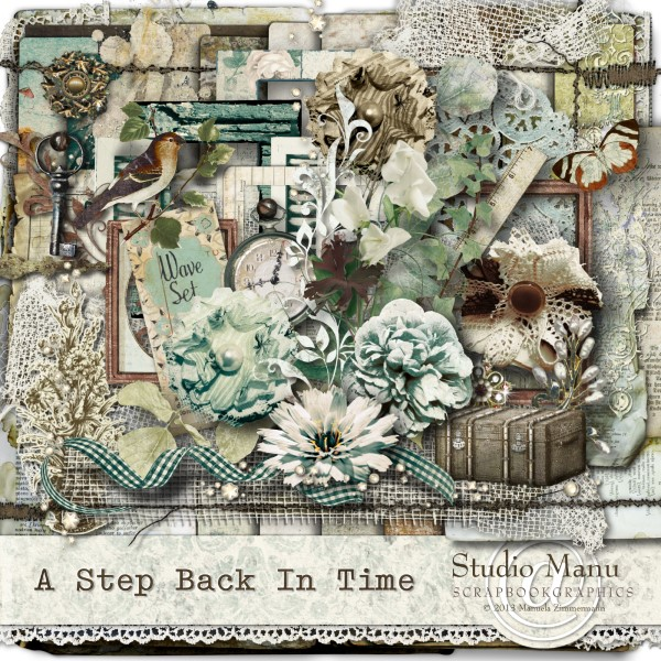 Digital scrapbooking Page Kit: A Step Back In Time