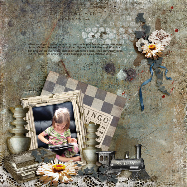 Scrapbooking Layout by Janet