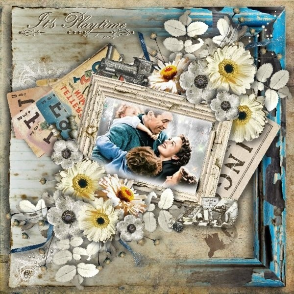 Digital scrapbooking Layout by Tracey