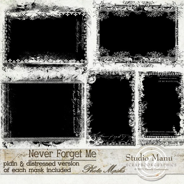 Never Forget Me - Photo Masks