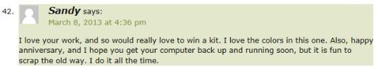 Winner Comment