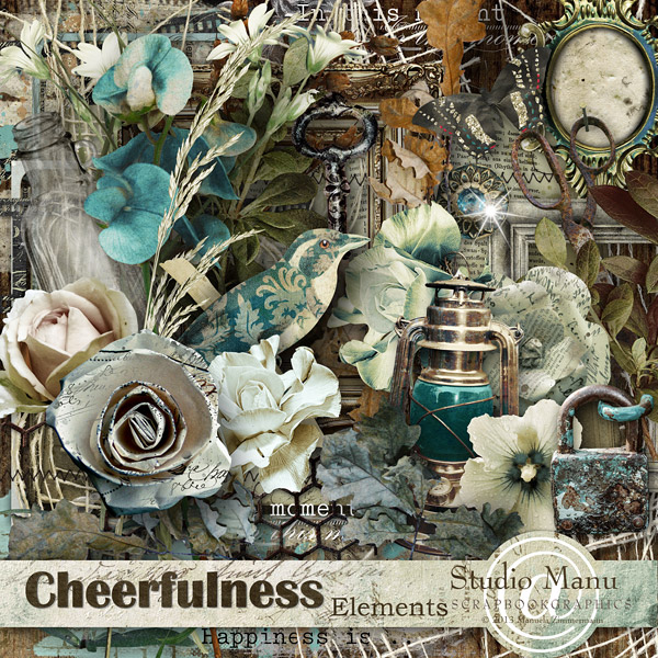 Cheerfulness Digital Scrapbooking Page Kit