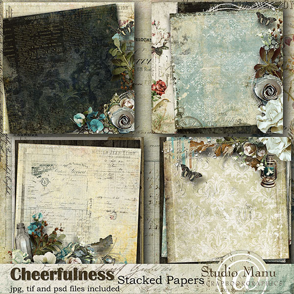 Cheerfulness - Stacked papers