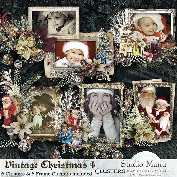 Vintage Christmas 4 - Clusters