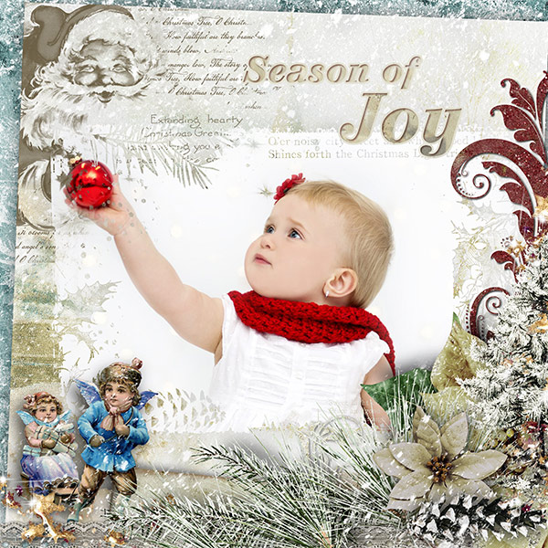 Scrapbook Inspiration Page Vintage Christmas