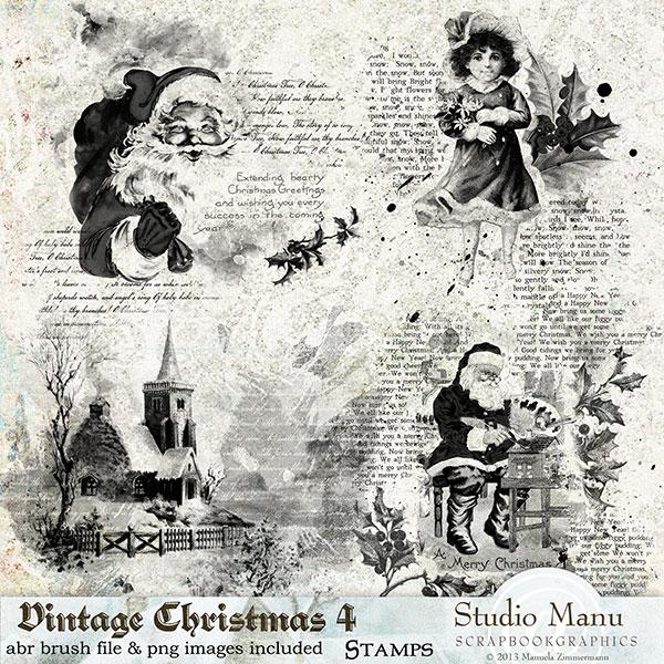Vintage Christmas 4 - Stamps