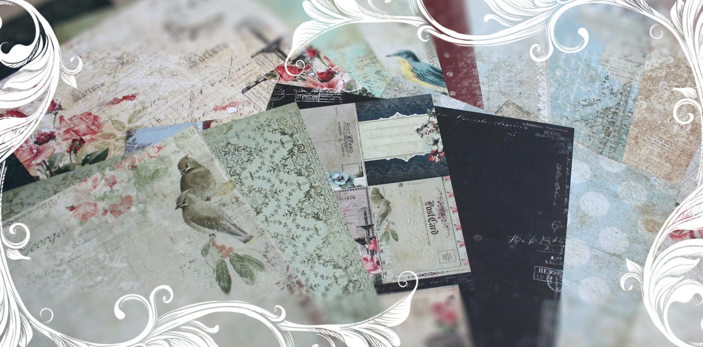 Blue Fern Scrapbooking Papers Sanctuary