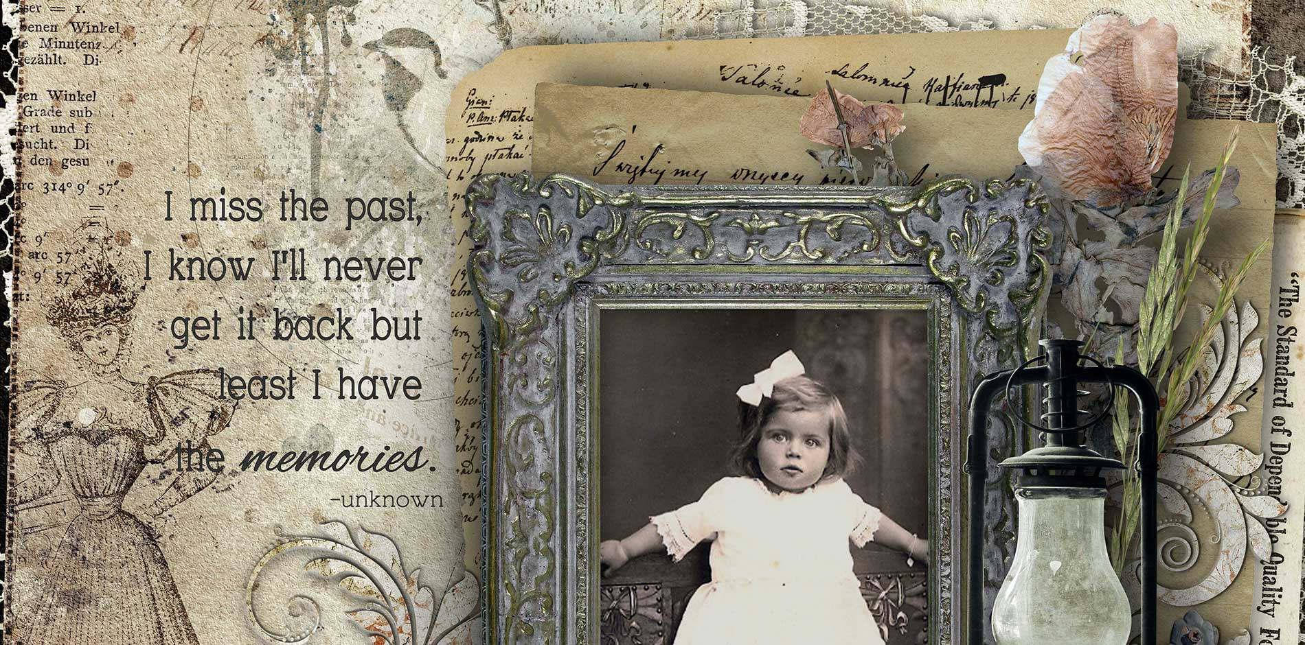 Time Immemorial Vintage Scrapbooking Kit