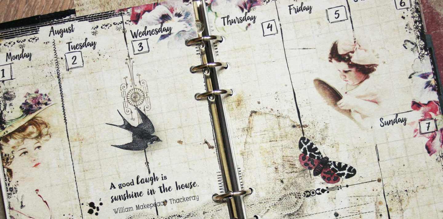vintage planner pages no.7 header