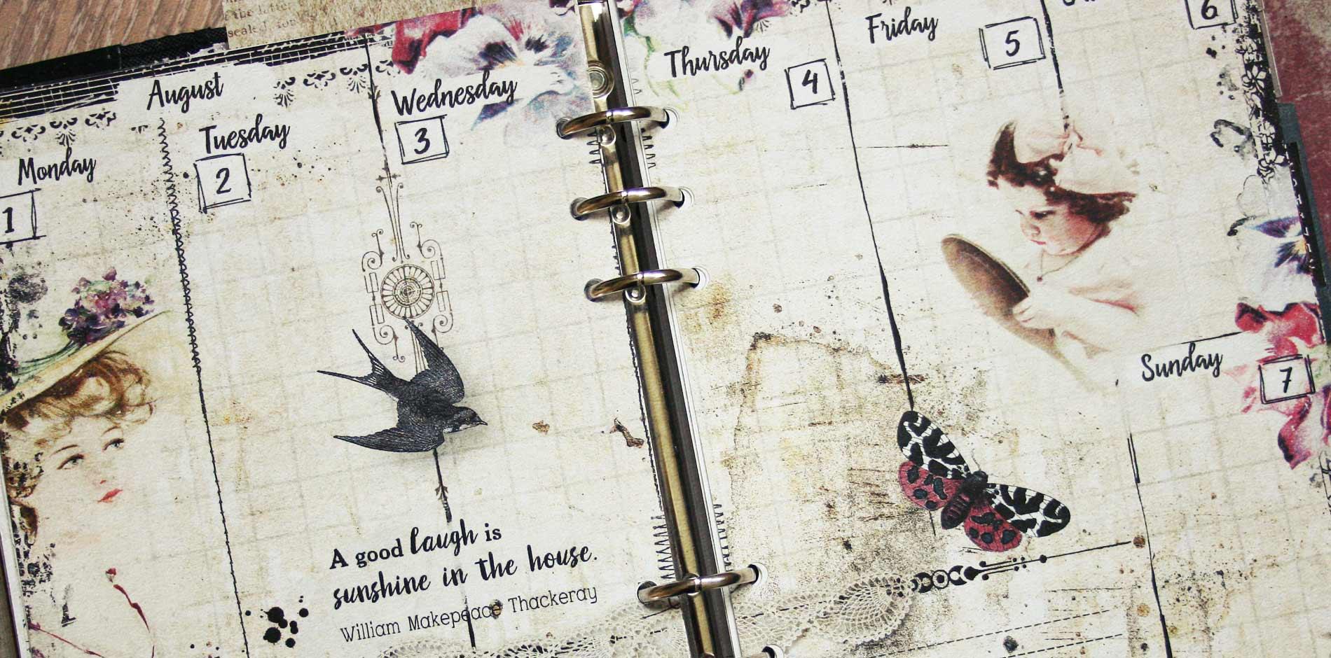 vintage planner pages no.7 header