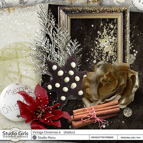 Vintage Christmas Scrapbook Freebie