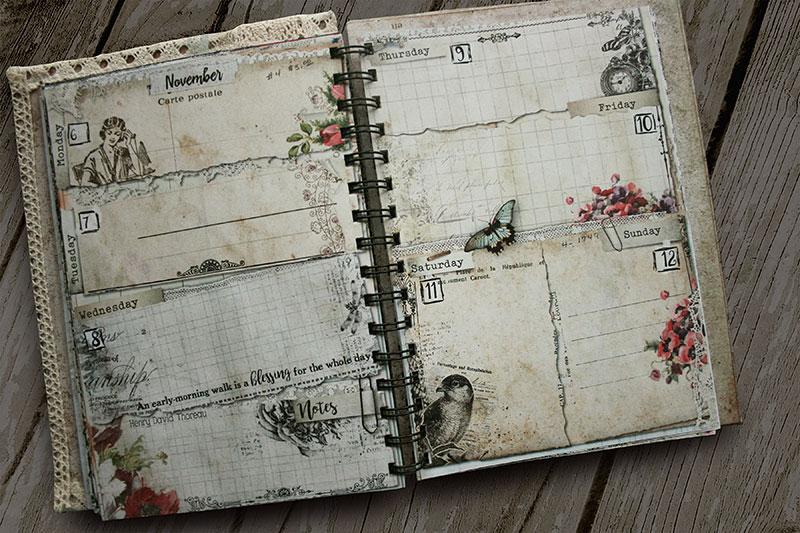 Vintage Weekly Planner 2017 Etsy