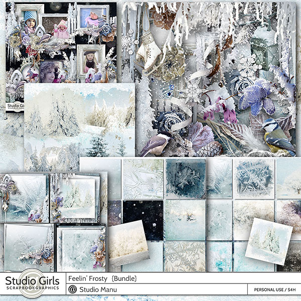 Winter digital scrapbook collection