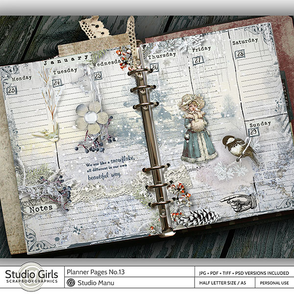 Vintage Printable Planner Pages Weekly