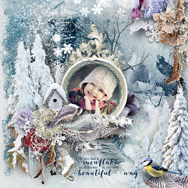 Winter Scrapbook Inspiration Layout