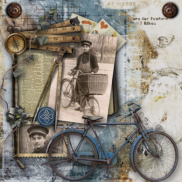 Masculine scrapbook page inspiration