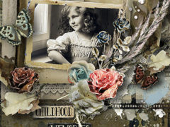 Digital Scrapbooking Collection: Snapshots From The Past
