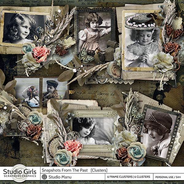 Vintage Digital Cluster Frames