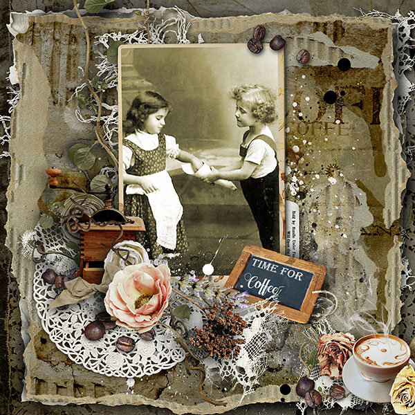 Vintage Scrapbooking Inspiration Layout