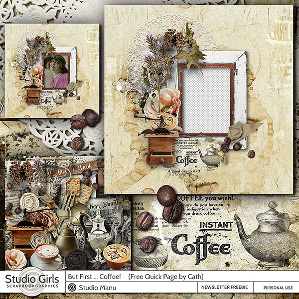 Coffee Time Quick Page Freebie