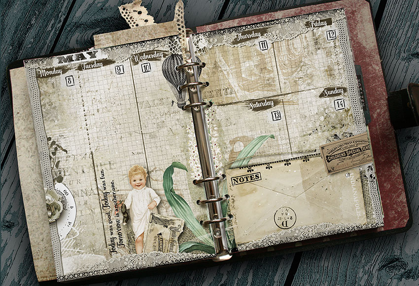 Vintage Printable Planner Pages