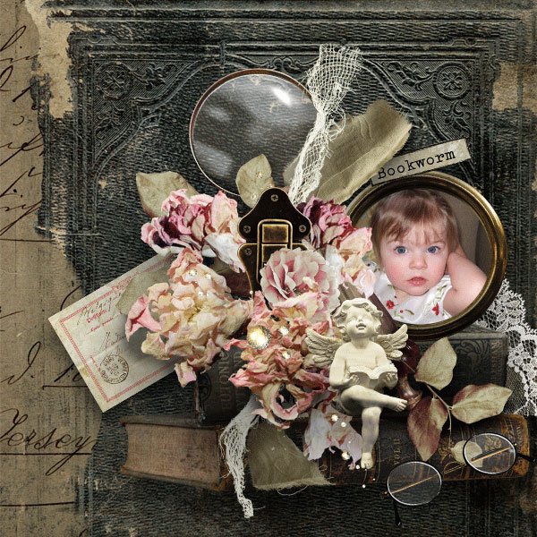 Book Reading Scrapbook Inspiration Layout