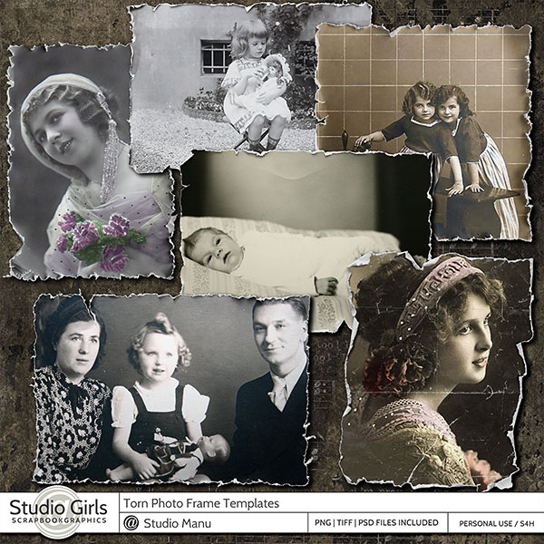 Torn Photo Frame Templates