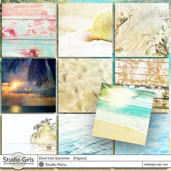 Summer Scrapbook Papers