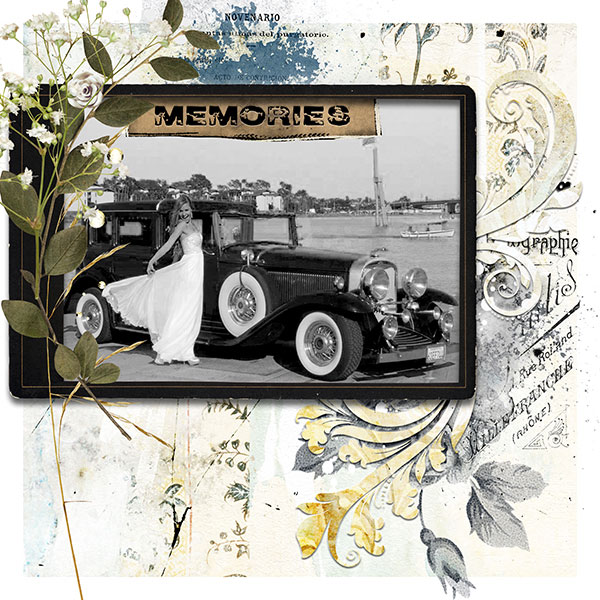 Vintage Scrapbook Layout Inspiration