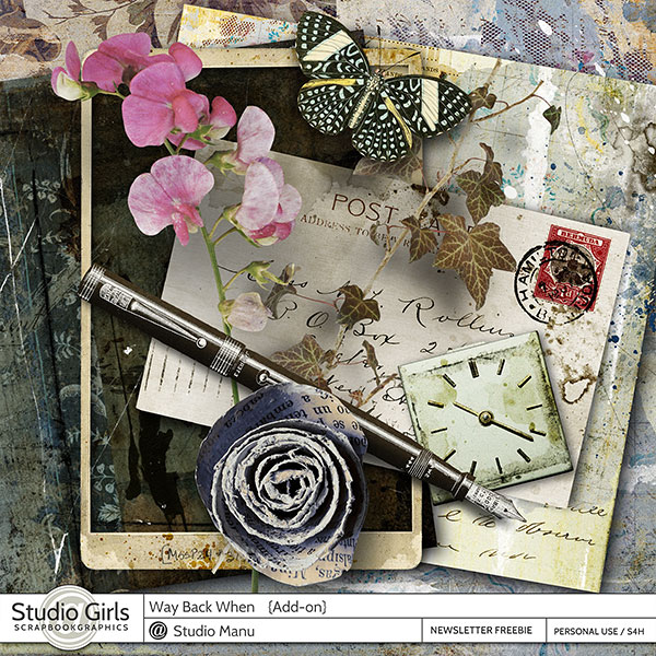 Way Back When digital scrapbook freebie