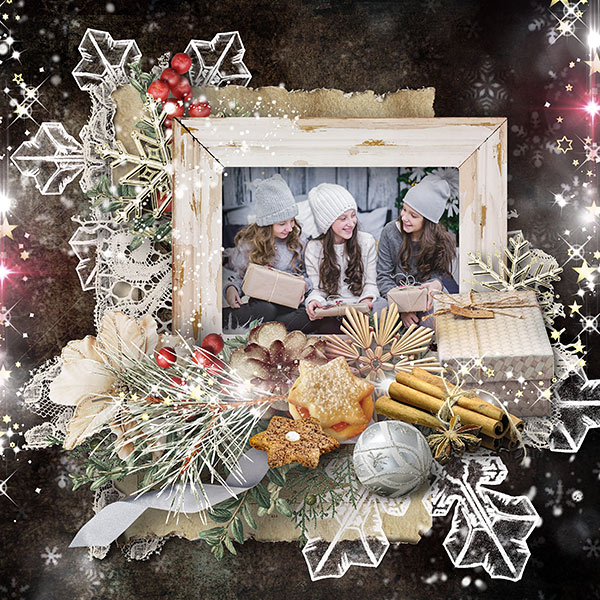 Christmas Scrapbook Inspiration Layout